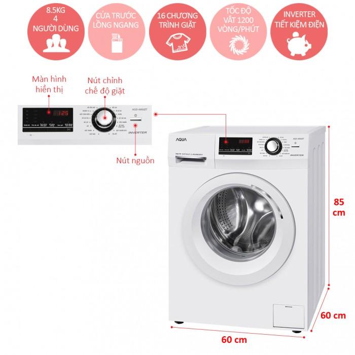 Máy Giặt Aqua 8.5 Kg AQD-A850ZT