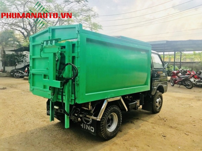 Xe tải ben Chở Rác mini Chiến Thắng 1200KG—1.2 Tấn vào ngõ hẽm 1
