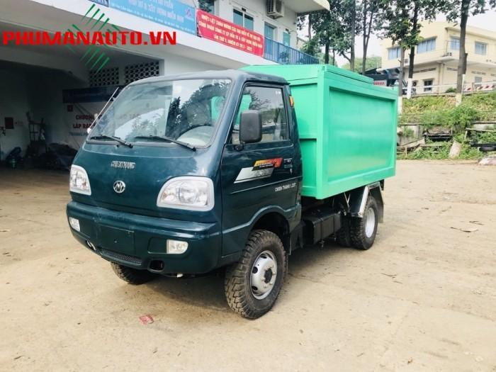 Xe tải ben Chở Rác mini Chiến Thắng 1200KG—1.2 Tấn vào ngõ hẽm 2