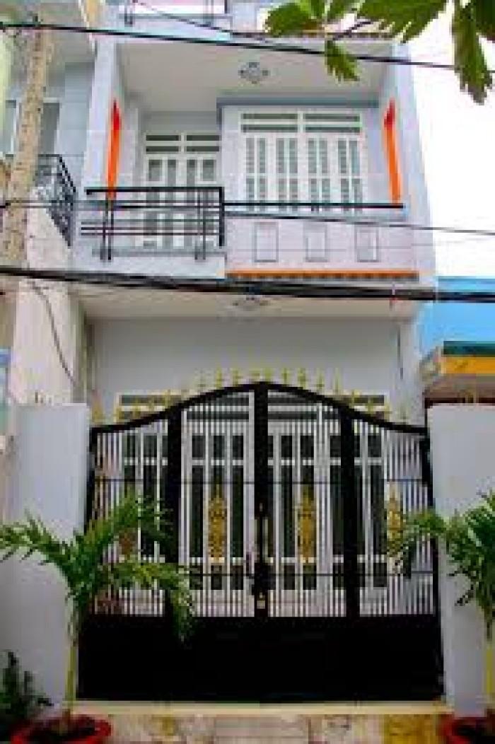 Bán nhà mới xây sổ Hồng Riêng gần chợ Bình Chánh