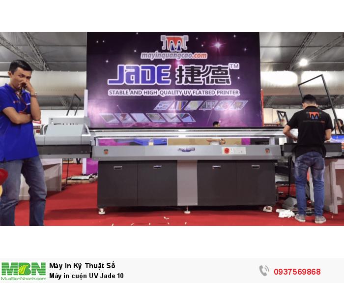Máy in UV cuộn Jade 10 được phân phối bởi Công ty Máy In Quảng Cáo.