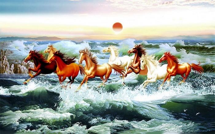 Tranh ngựa 3d vn660