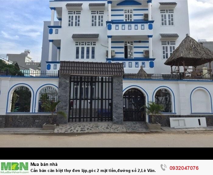 Cần bán căn biệt thự đơn lập,góc 2 mặt tiền,đường số 2,Lê Văn Việt,phường Tăng Nhơn Phú A