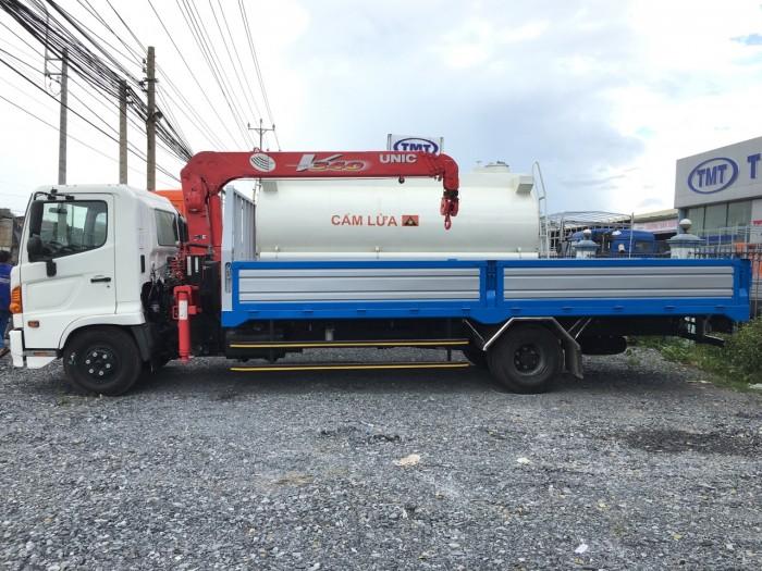 Xe tải Hino 6t gắn cẩu Unic 3t, xe tải Hino Fc gắn cẩu Unic, xe tải Hino gắn cẩu