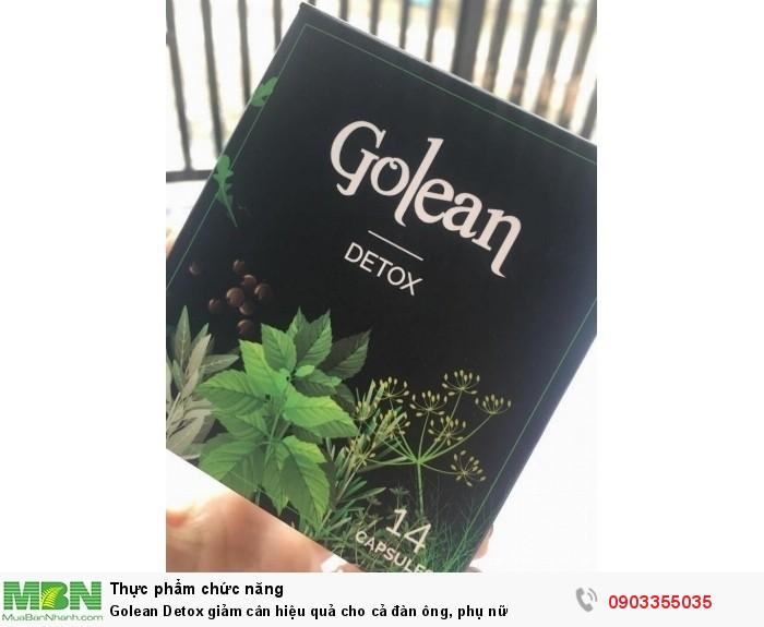 Golean Detox giảm cân hiệu quả cho cả đàn ông, phụ nữ