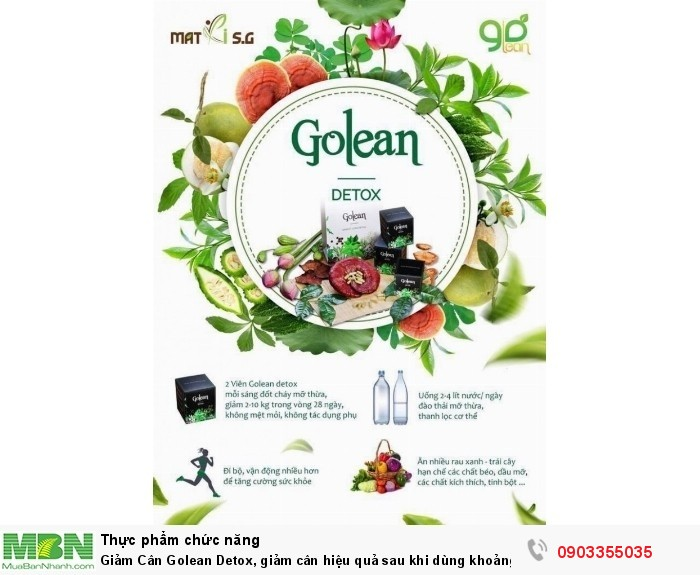 Giảm Cân Golean Detox, giảm cân hiệu quả sau khi dùng khoảng 3 hộp3