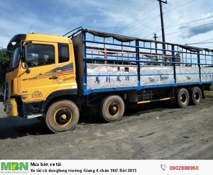Xe tải cũ dongfeng trường Giang 4 chân 18t7 Đời 2015