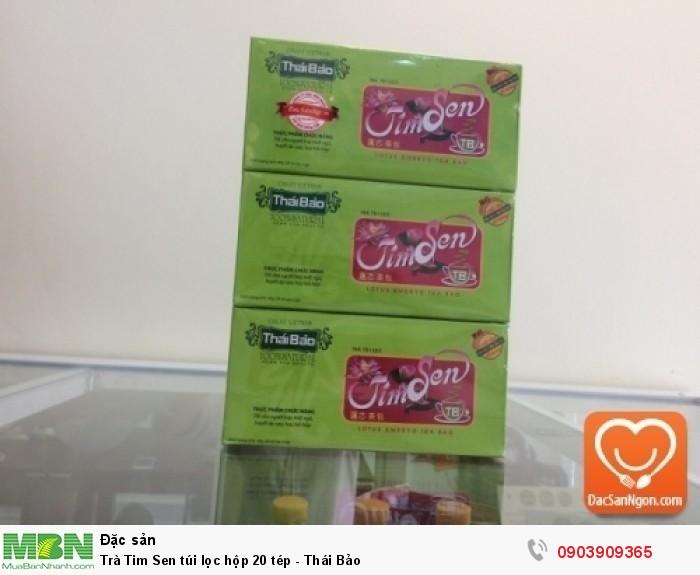 Trà Tim Sen túi lọc hộp 20 tép thương hiệu Thái Bảo0