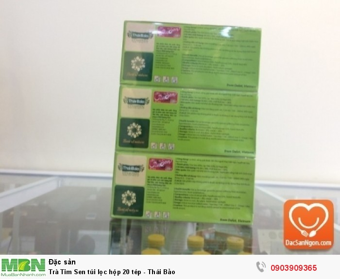 Thông tin sản phẩm Trà Tim Sen túi lọc hộp 20 tép Thái Bảo1