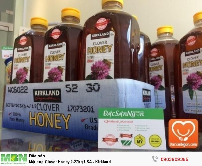 Mật ong Kirkland Clover Honey 2.27kg USA đạt chứng nhận