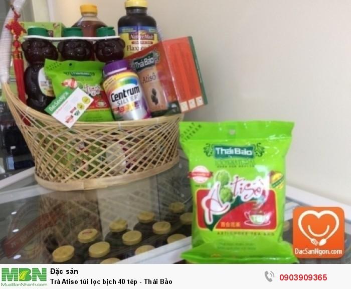 Trà Atiso túi lọc bịch 40 tép Thái Bảo trong giỏ quà tặng sức khỏe dành tặng người thân và bạn bè2