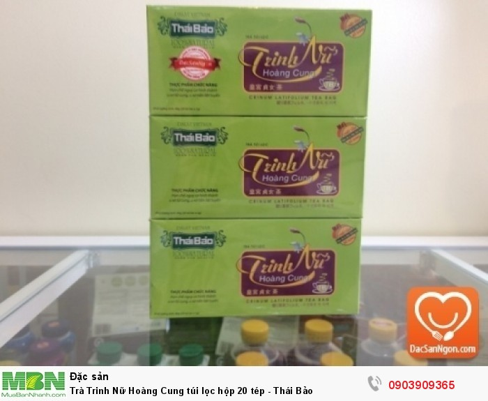 Trà Trinh Nữ Hoàng Cung túi lọc hộp 20 tép thương hiệu Thái Bảo0