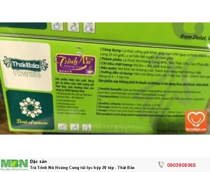 Thông tin sản phẩm Trà Trinh Nữ Hoàng Cung túi lọc hộp 20 tép Thái Bảo3