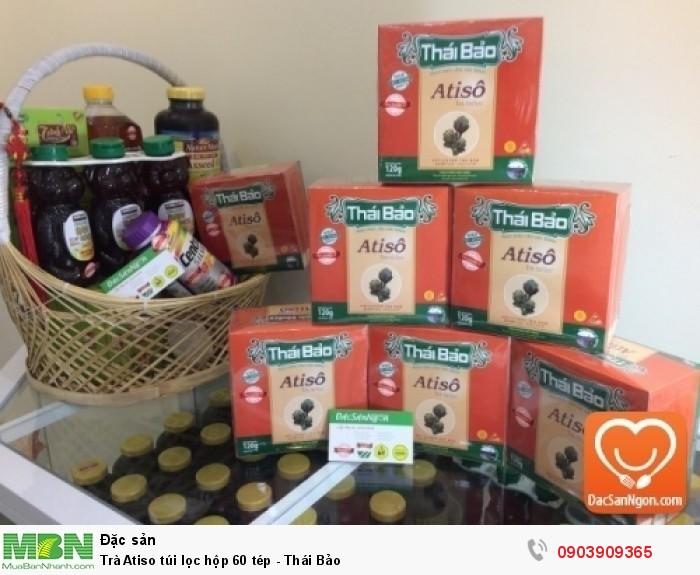 Trà Atiso túi lọc Thái Bảo hộp 60 tép - Thực phẩm chức năng tốt cho người gan yếu, ăn uống khó tiêu, táo bón, máu nhiễm mỡ.1