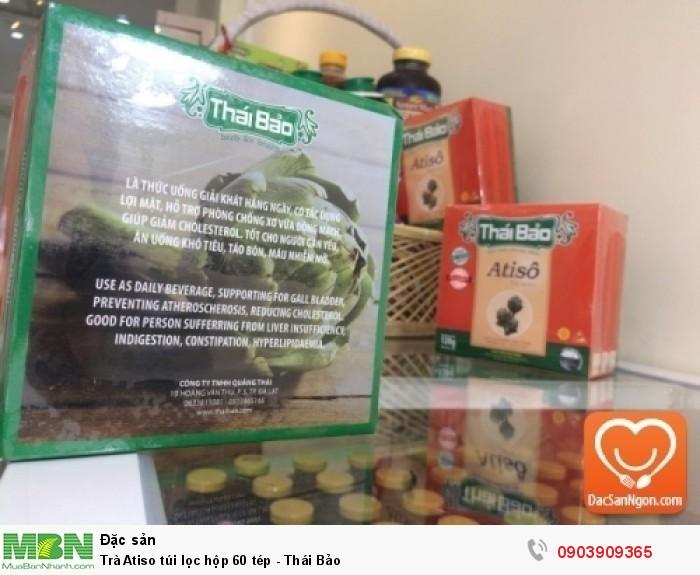 Cung cấp sỉ và lẻ Trà Atiso túi lọc hộp 60 tép Thái Bảo đặc sản Đà Lạt3