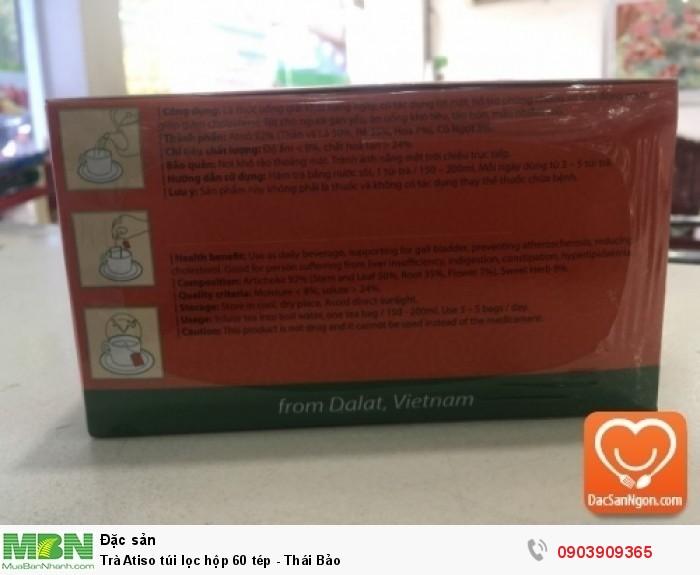 Thông tin sản phẩm Trà Atiso túi lọc hộp 60 tép Thái Bảo4