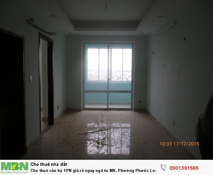 Cho thuê căn hộ 1PN giá rẻ ngay ngã tư MK, Phường Phước Long A, Q.9