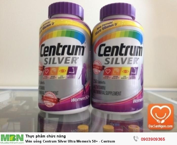 Viên uống Centrum Silver Ultra Women's 50+(viên uống Centrum cho nữ giới trên 50 tuổi) hàng nhập chính hãng USA.0