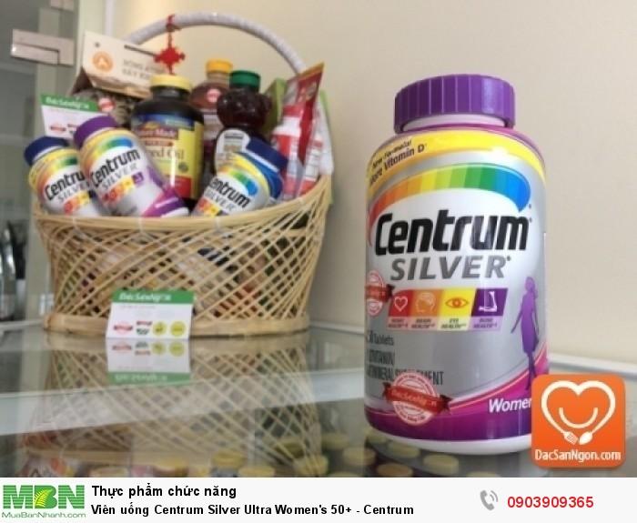 Viên uống Centrum Silver Ultra Women's 50+ là viên uống bổ sung vitamin tổng hợp và khoáng chất dành cho nữ giới trên 50 tuổi.1