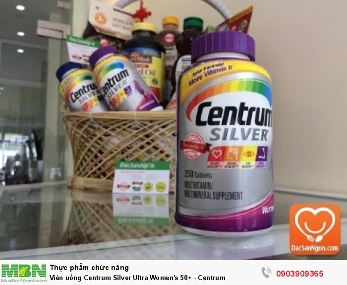 Viên uống Centrum Silver Ultra Women's 50+ trong giỏ quà tặng sức khỏe dành tặng người thân lớn tuổi | Công ty TNHH Đặc Sản Ngon nhận gói giỏ quà cao cấp các dịp Quà tết, Sinh nhật, Mừng thọ... Giỏ quà gồm đặc sản cao cấp, đặc sản nhập khẩu như Viên uống Centrum Silver Ultra Men's/Women 50+, Viên uống tinh dầu hạt lanh, Mật ong Mỹ, bổ phầm,... cùng đặc sản Việt Nam nổi tiếng chất lượng như Đặc sản Đà Lạt9