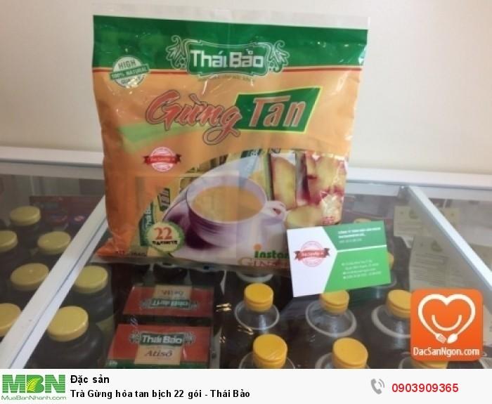 Trà Gừng hòa tan 22 gói Thái Bảo đóng gói dạng bịch - Thảo mộc cho sức khỏe0