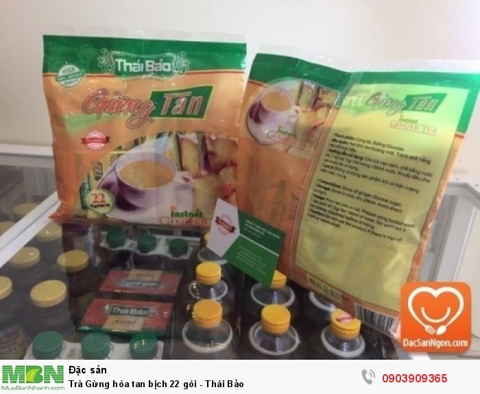Trà Gừng hòa tan Thái Bảo bịch 22 gói đặc sản Đà Lạt1