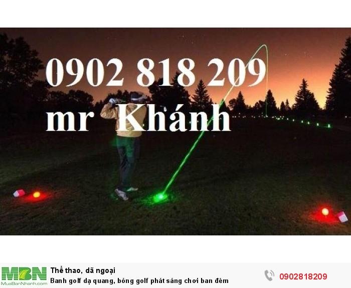Banh golf dạ quang, bóng golf phát sáng chơi ban đêm0