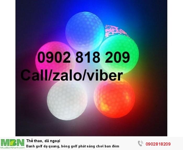 Banh golf dạ quang, bóng golf phát sáng chơi ban đêm1