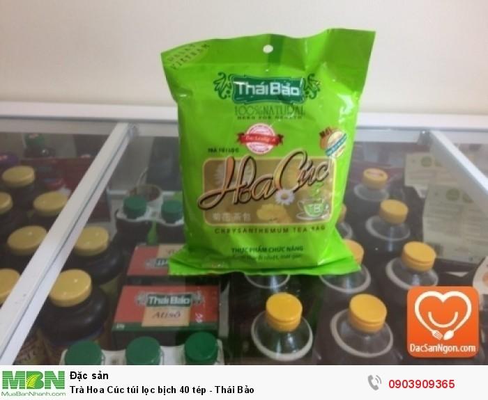 Trà Hoa Cúc túi lọc bịch 40 tép Thái Bảo - Thực phẩm chức năng giúp thanh nhiệt mát gan0