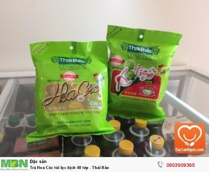 Trà Hoa Cúc túi lọc bịch 40 tép Thái Bảo đặc sản Đà Lạt1