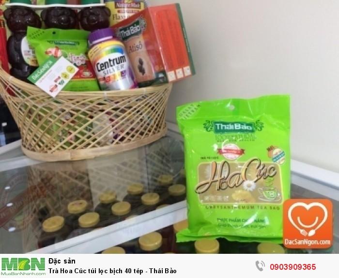 Trà Hoa Cúc túi lọc bịch 40 tép Thái Bảo đặc sản ngon từ Đà Lạt2