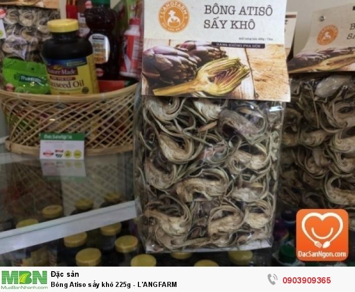 Bông Atiso sấy khô 225g thương hiệu đặc sản Đà Lạt L'ANGFARM hàng chất lượng không pha trộn.0