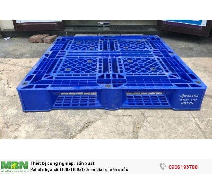 Pallet nhựa cũ 1100x1100x120mm giá rẻ toàn quốc4