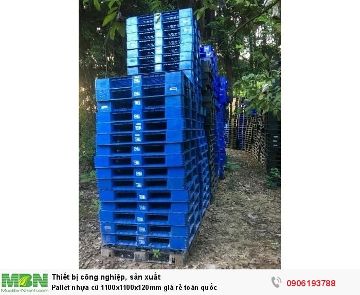 Pallet nhựa cũ 1200x1000x120mm giá rẻ toàn quốc11