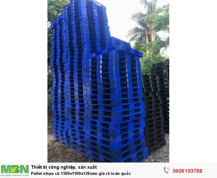 Pallet nhựa cũ 1100x1100x120mm giá rẻ toàn quốc12