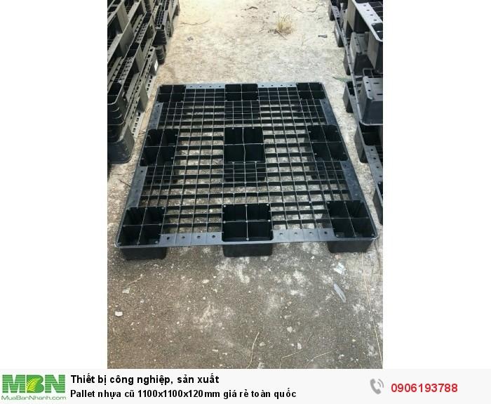 Pallet nhựa cũ 1200x1000x120mm giá rẻ toàn quốc. Liên hệ: 0906193788 (24/24)