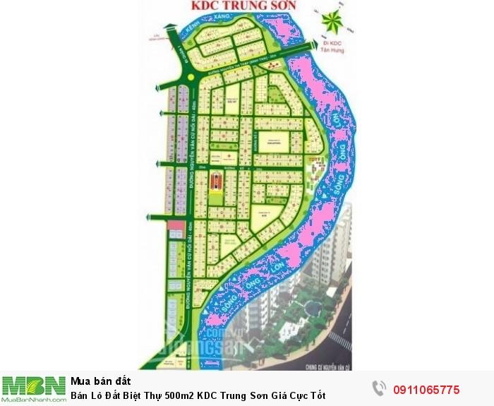 Bán Lô Đất Biệt Thự 500m2 KDC Trung Sơn Giá Cực Tốt