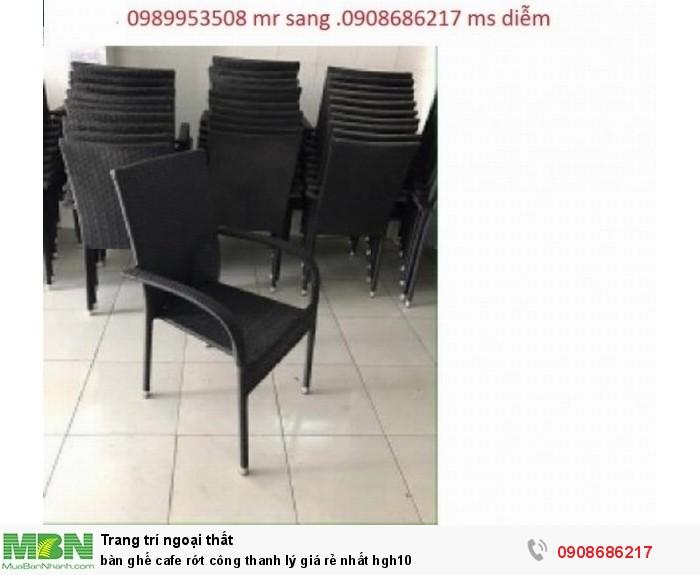 Bàn ghế cafe rớt công thanh lý giá rẻ nhất hgh101