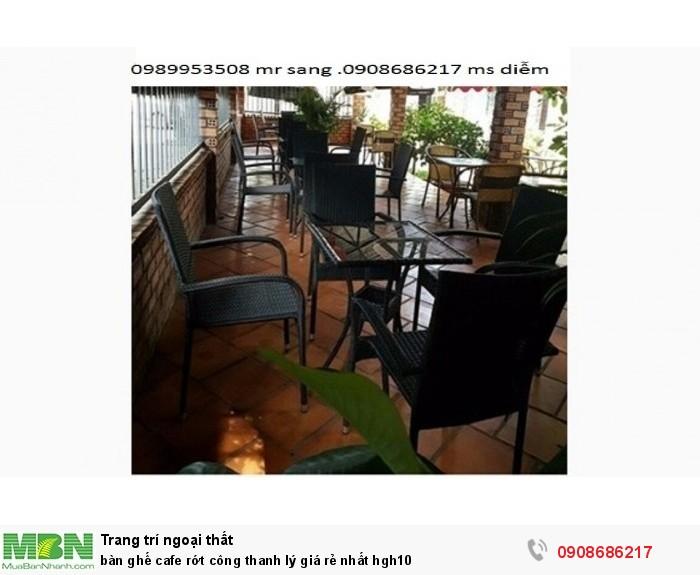 Bàn ghế cafe rớt công thanh lý giá rẻ nhất hgh102