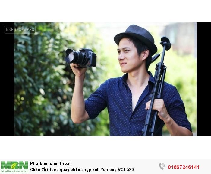 Chân đế tripod quay phim chụp ảnh Yunteng VCT-520