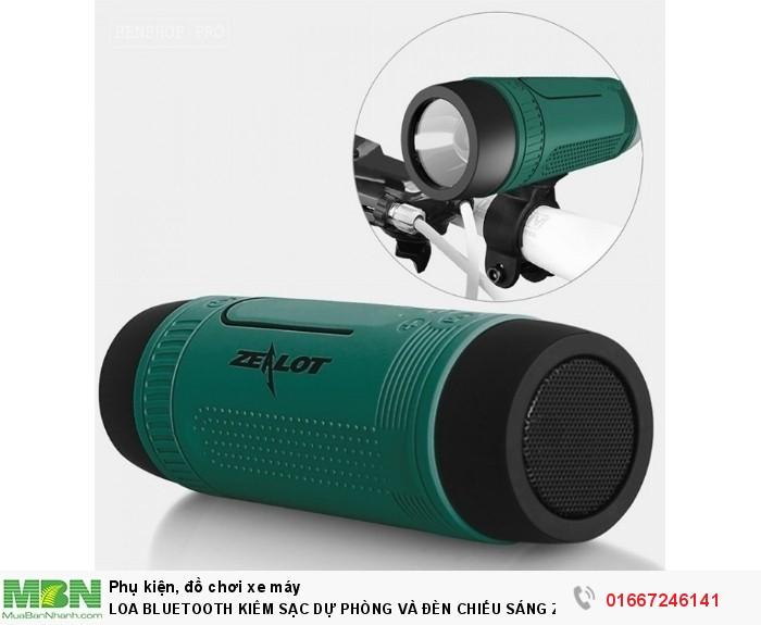Loa Bluetooth Kiêm Sạc Dự Phòng Và Đèn Chiếu Sáng Zealot S10