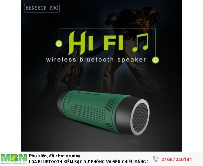 Loa Bluetooth Kiêm Sạc Dự Phòng Và Đèn Chiếu Sáng Zealot S12