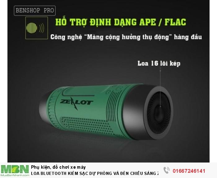 Loa Bluetooth Kiêm Sạc Dự Phòng Và Đèn Chiếu Sáng Zealot S13