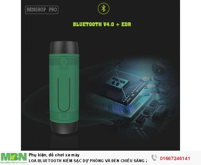 Loa Bluetooth Kiêm Sạc Dự Phòng Và Đèn Chiếu Sáng Zealot S15