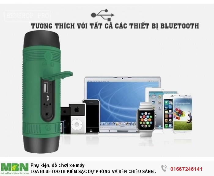 Loa Bluetooth Kiêm Sạc Dự Phòng Và Đèn Chiếu Sáng Zealot S17