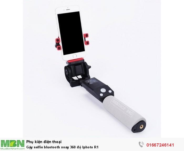 Gậy selfie bluetooth xoay 360 độ Iphoto R1