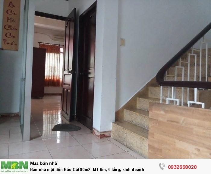Bán nhà mặt tiền Bàu Cát 90m2, MT 6m, 4 tầng, kinh doanh