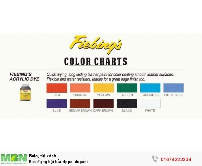bảng màu Fiêbing acrrylic, inbox để chọn màu3