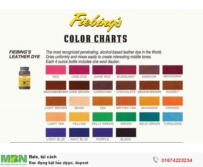 bảng màu Fiebing Dye , inbox để chọn màu4