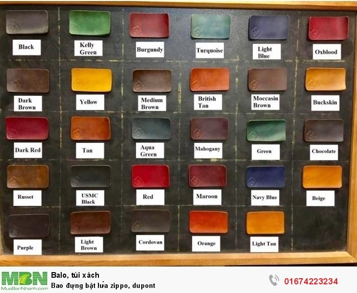 bảng màu Fiebing Dye nhuộm thử, inbox để chọn màu5